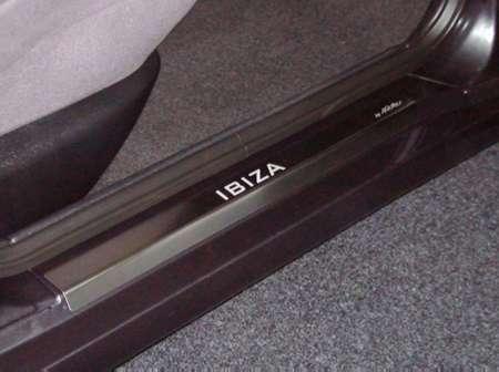 Kryty prahů Seat Ibiza - nerezové