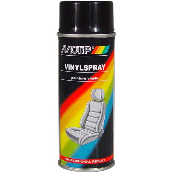 MOTIP - vinylová barva na kůži ve spreji - černá, 400 ml