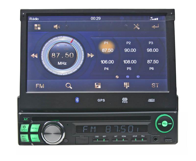 1DIN DVD autorádio s výsuvným LCD, bluetooth, SD/USB/FM/DUAL-GPS/RDS/ČESKÉ MENU