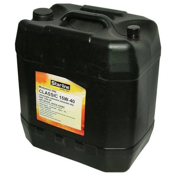 Motorový olej STARLINE CLASSIC 15W40, balení 20 litrů