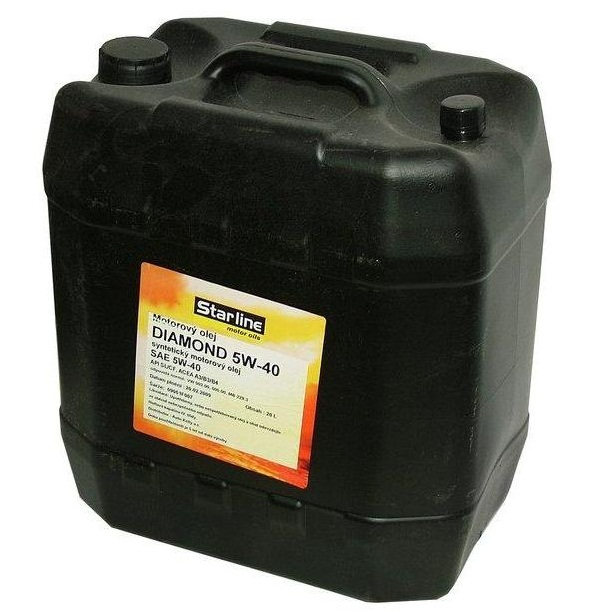 Motorový olej STARLINE DIAMOND 5W40, balení 20 litrů