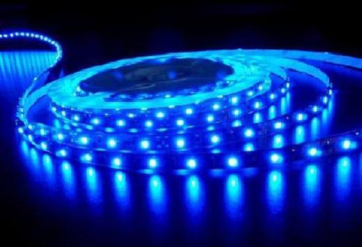 LED diodový pásek 12V, 30cm, modré světlo