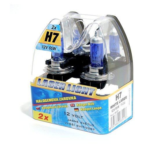 Sada autožárovek H7 White Laser 12V 55W