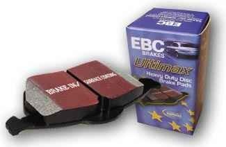 Špičkové brzdové destičky EBC Brakes Blackstuff Škoda Fabia 1.4TD, r.v.04-