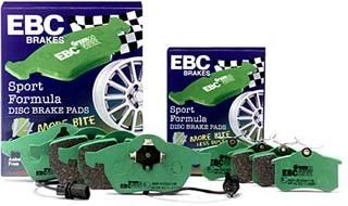 Špičkové brzdové destičky EBC Brakes Greenstuff Škoda Fabia 1.2, r.v. 03-