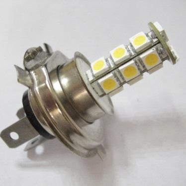 LED žárovka 12V s paticí H4, 18 SMD LED, 1ks
