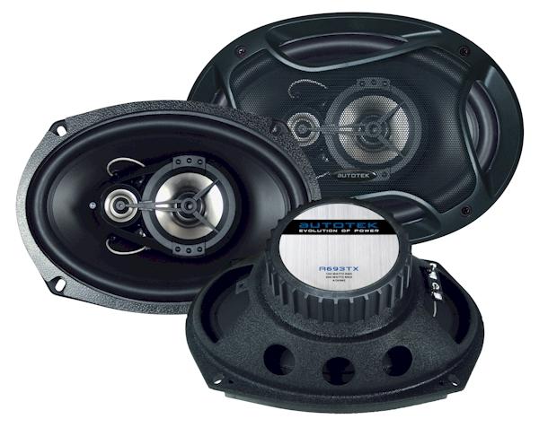 3-pásmové koaxiální oválné reproduktory Autotek A693TX