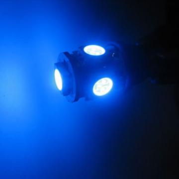 Žárovka parkovací W5W, T10 - 5 x LED SMD MODRÉ - bezpaticové, 1ks