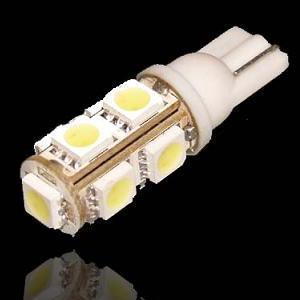 Žárovka parkovací W5W, T10 - 9 x LED SMD BÍLÉ - bezpaticové, 1ks