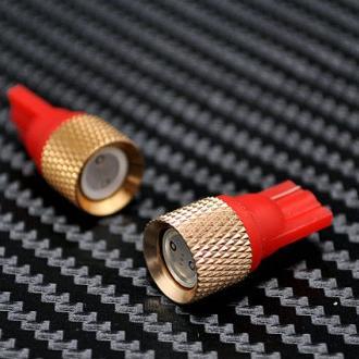 Žárovka parkovací W5W, T10 - 1 x 1W High Power LED SMD ČERVENÉ - bezpaticové, 1ks