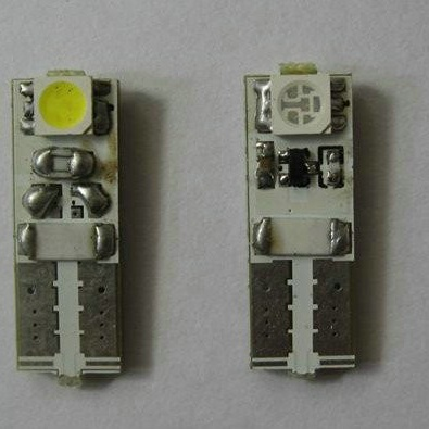 CAN-BUS žárovka parkovací - T10 (W5W) - 2xSMD BÍLÁ, 1ks