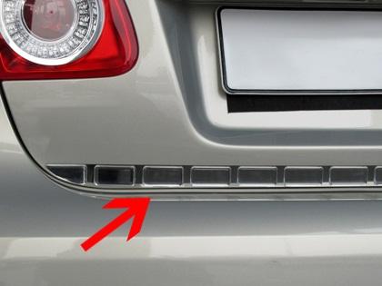 Nerezová lišta hrany kufru s plast. chrániči Renault CLIO III