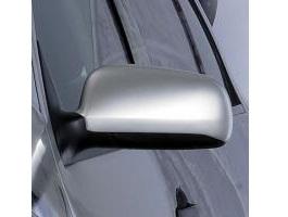Milotec kryty zrcátek - ABS stříbrný matný, nesymetrické, Škoda Fabia/Octavia