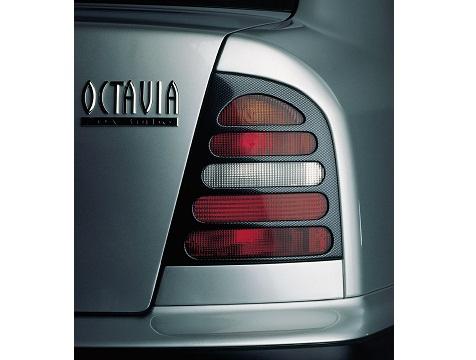 Milotec kryty zadních světel (masky) - ABS karbon, Škoda Octavia Limousine
