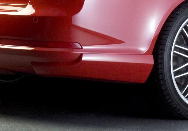 Milotec BODY-KIT RS zadní rozšíření nárazníku, ABS-černý, Škoda Octavia II RS