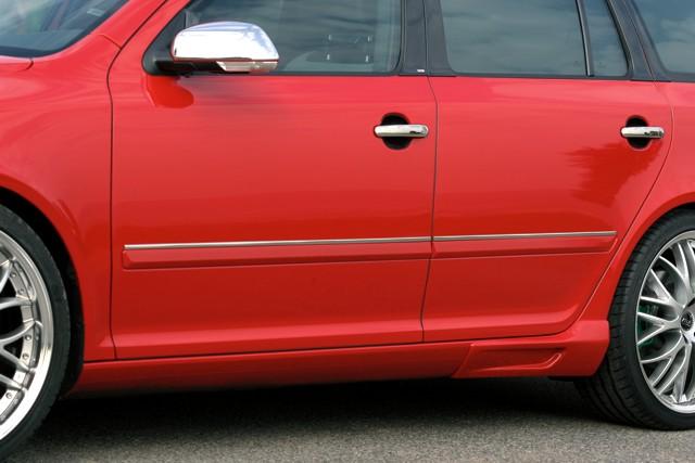 Milotec boční ozdobné lišty, ušlechtilá ocel, Škoda Octavia II Lim./Combi, Škoda Octavia II Facelift Lim./Combi