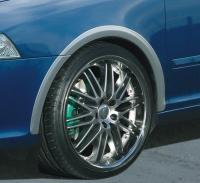 Milotec lemy blatníků, ABS stříbrný matný, Škoda Octavia II, Škoda Octavia II Facelift