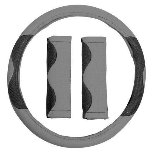 Potah volantu šedý + návlek na bezp. pás