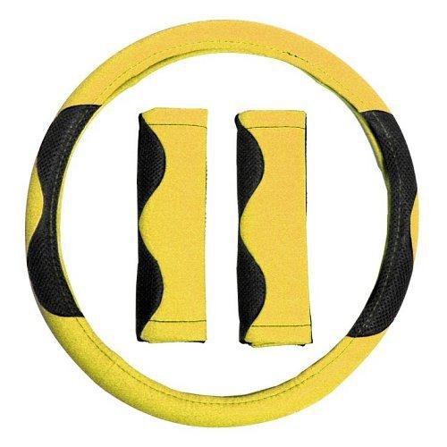 Potah volantu žlutý + návlek na bezp. pás