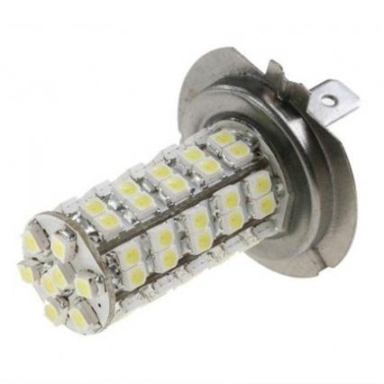 LED žárovka 12V s paticí H7, 68 SMD LED, 1ks