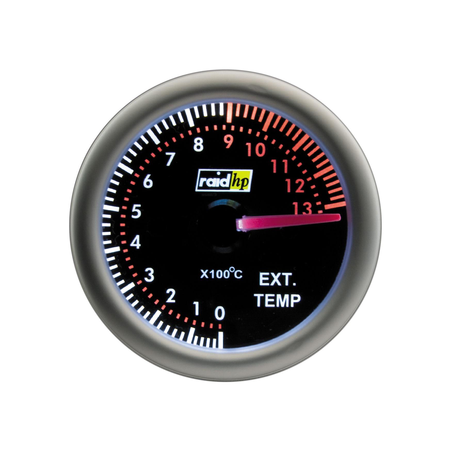 Raid Night flight - přídavný palubní budík teplota výfukových plynů EGT