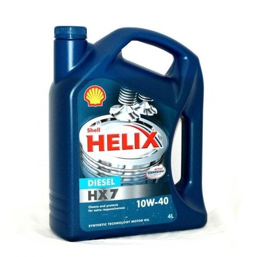 Motorový olej Shell Helix Diesel HX7 10W-40 - 4 litry