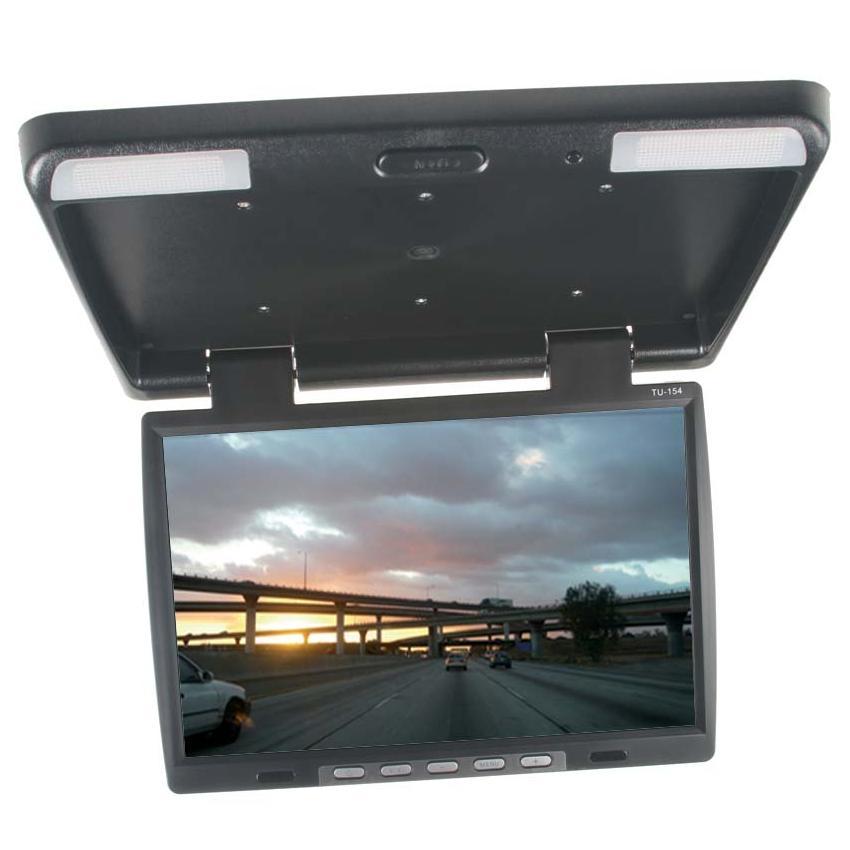 Stropní LCD monitor 15,4 černý neotočný