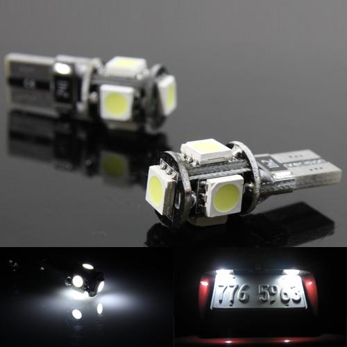 CAN-BUS bílá parkovací žárovka T10 (W5W) - 5xSMD, 1ks