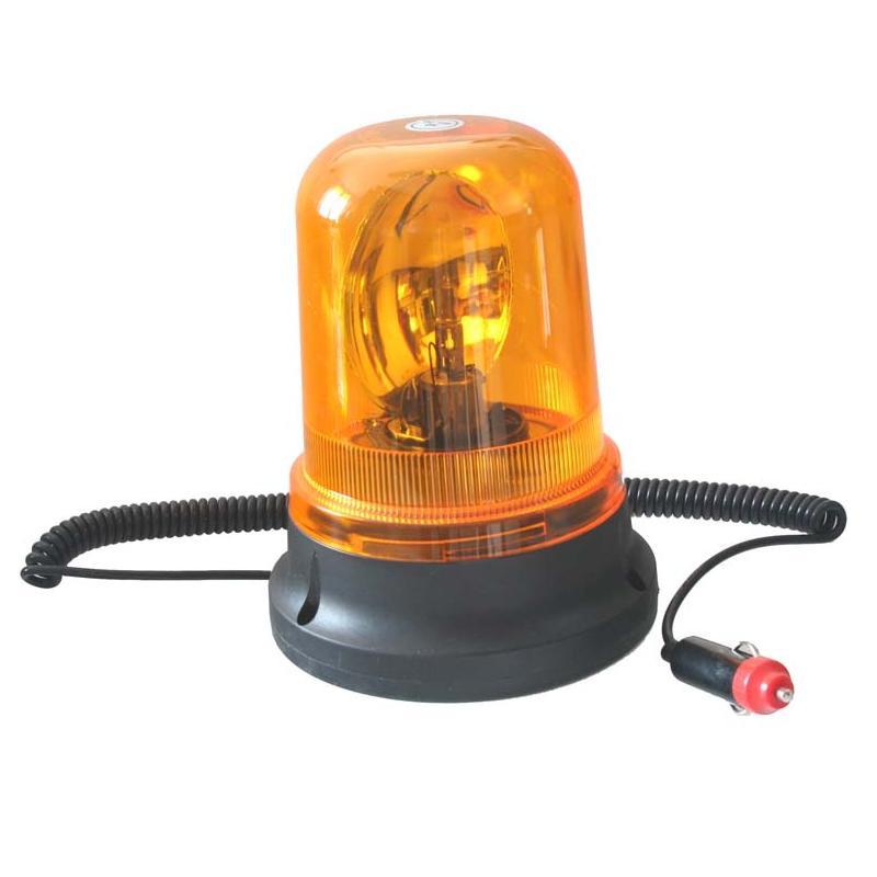 Rotační maják, 12V, oranžový magnet