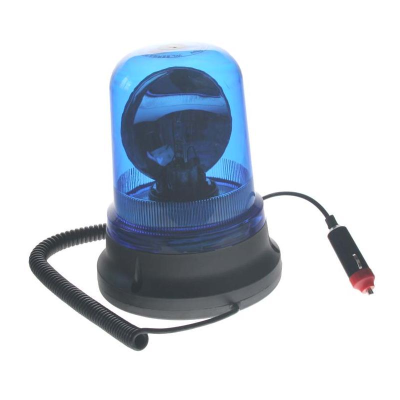 Rotační maják, 12V, modrý magnet