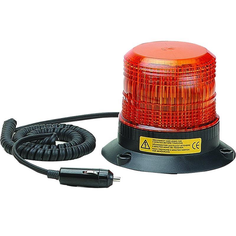 Zábleskový maják malý 12-110V, oranžový magnet