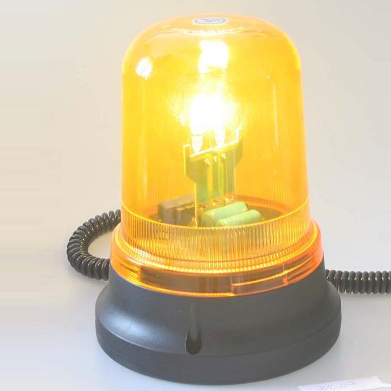 Zábleskový maják, 12V, oranžový magnet