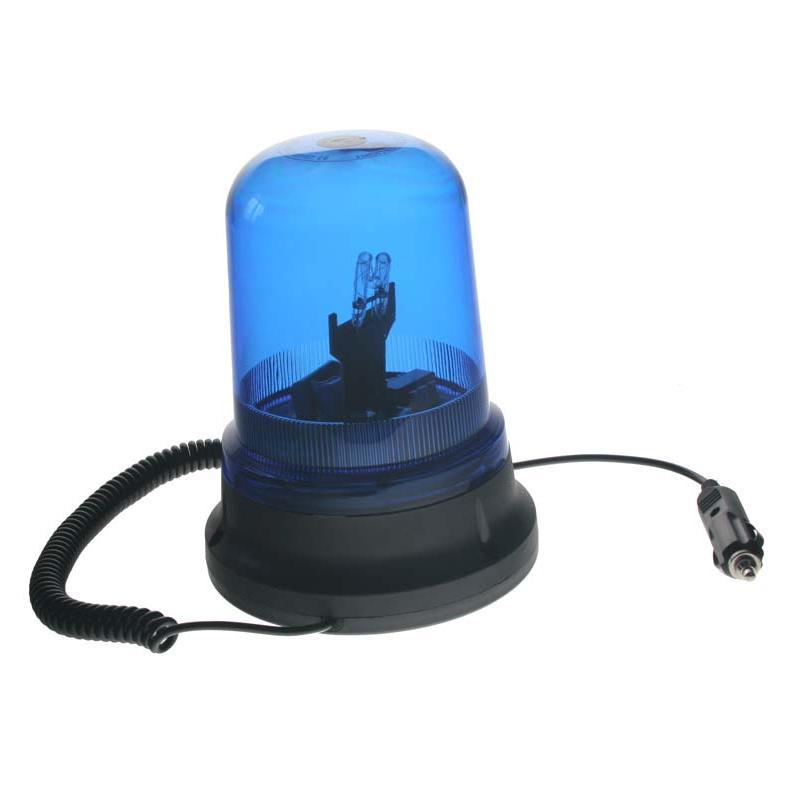 Zábleskový maják, 12V, modrý magnet