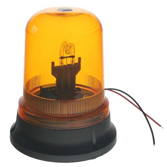 Zábleskový maják, 12V, oranžový