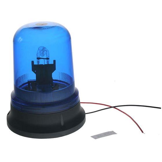 Zábleskový maják, 12V, modrý