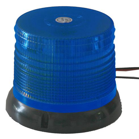 Zábleskový LED maják, 12V, modrý, homologace