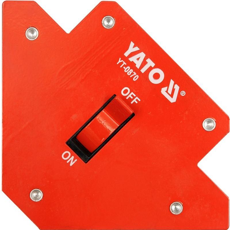 Úhelník magnetický ke svařování 11,5 kg, 107x160x26 mm Yato YT-0870