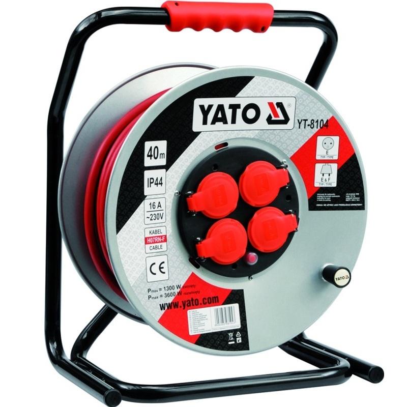 Prodlužovák bubnový 30 m kov Yato YT-8103