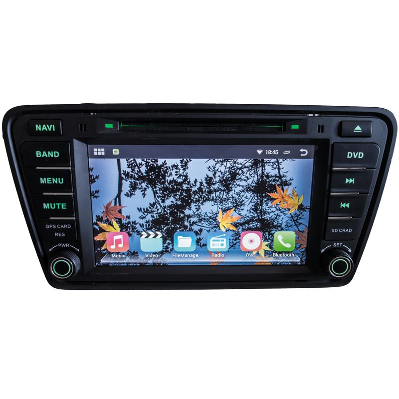 Autorádio pro Škoda Octavia III 2014- s 8'' LCD, Android 4.4.2, WI-FI, GPS