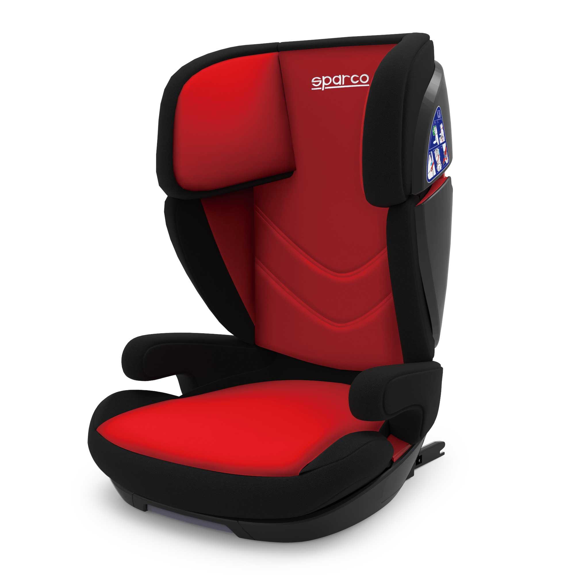 Autosedačka SPARCO 15-36kg, ISOFIX, červeno-černá