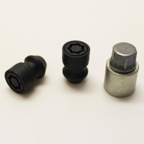 Bezpečnostní matice SICUSTAR M12x1,25, kužel, černé