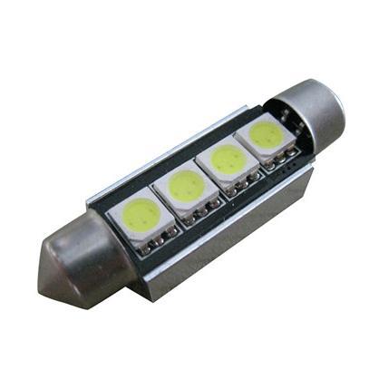 CAN-BUS sufitka bílá - Super Light, 4 SMD LED, 41mm, 1ks