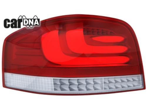 carDNA LED zadní světla Audi A3 8P 03-09 stříbrné/červené/čiré