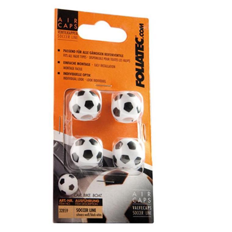 Čepičky ventilků Foliatec - fotbalové míče