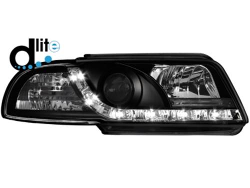 D-LITE přední světla s denním svícením AUDI A4 B5 95-98 černé