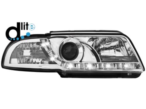 D-LITE přední světla s denním svícením AUDI A4 B5 95-98 chrom