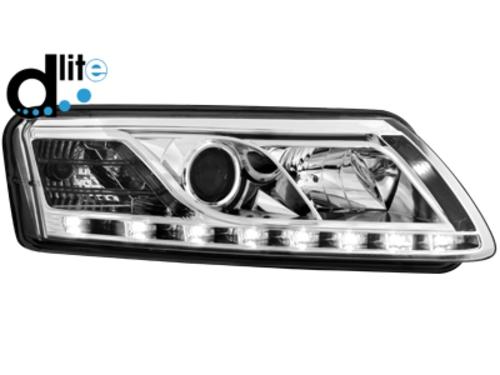 D-LITE přední světla s denním svícením AUDI A6 4F 04-07 chrom