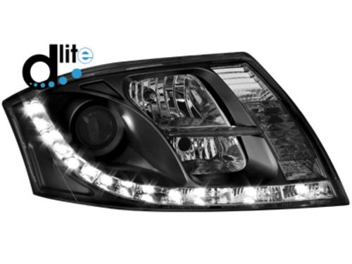 D-LITE přední světla s denním svícením AUDI TT 8N černé