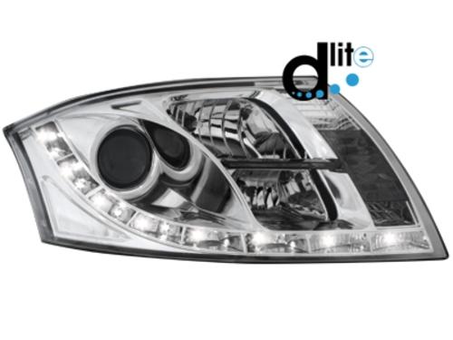 D-LITE přední světla s denním svícením AUDI TT 8N chrom