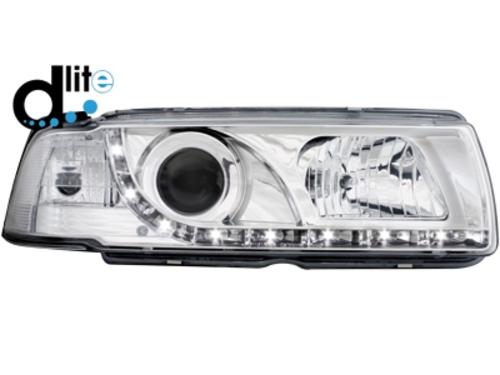D-LITE přední světla s denním svícením BMW 3 E36 Coupé 92-98 chrom